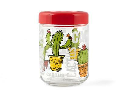 HOME Glass Jar 800Cc Cactus Decor Made In Italy