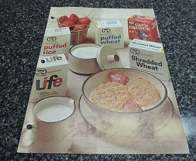 Quaker Oats Cap'n Crunch Ready to Eat Cereal Promotion Flyer 1968