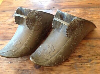 SPANISH CONQUISTADOR STIRRUP Peruvian South American Brass Armor Shoe 1600-1800s