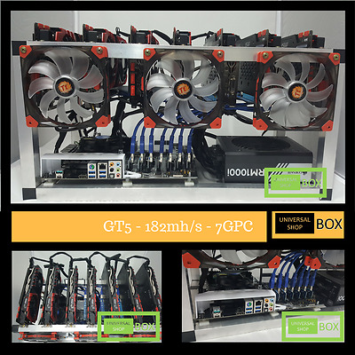 Mining Rig Virtual Currency ZCash 182mh/s GTX-1070 x 7 MSI NVIDIA Graphic Cards