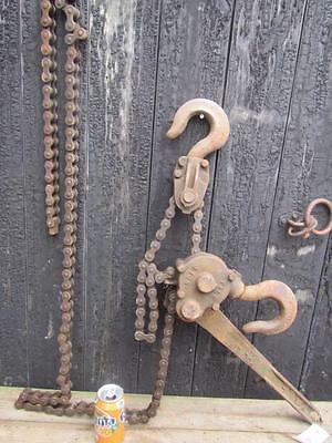 Vintage Yale 3 Ton Chain Ratchet Lift Hoist Block Tackle Industrial Chic Design