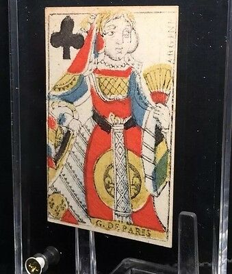 Authentic 18th Century Woodcut Colour Historic Playing Cards Single Document Use