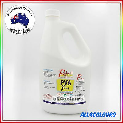 2L OZ Made NON TOXIC PVA Glue Washable adhesive for SLIME Non Staining