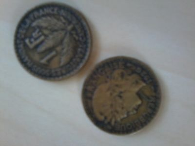 2 pieces de 1 francs Cameroun 1926