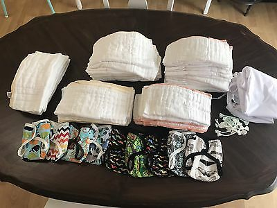 Cloth-eez Cloth Diaper Prefolds and Covers Lot Newborn-6 Months