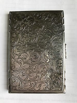 Silver Card Case Antique