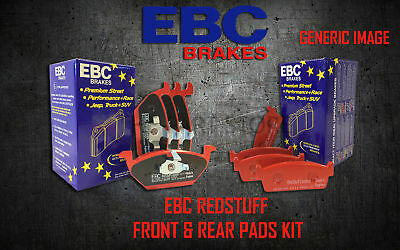 New Ebc Redstuff Front And Rear Brake Pads Kit Performance Pads Padkit1813