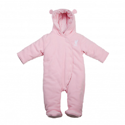 BNWT New Liverpool FC LFC Little Liver Baby Snowsuit 0-3M - Pink with Liver Bird