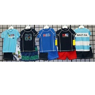 Nautica Boys sizes 12M-24M two piece rash guard sets. 24pcs. [N130979]