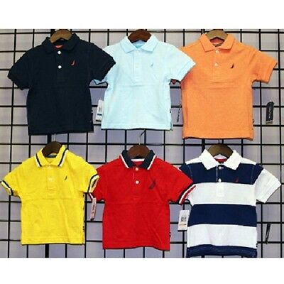 Nautica Boys sizes 12M-24M pique polos. 24pcs. [N181528Q]