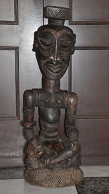 Kuba  Congo   ,  Africa   ,  Large Figure African Carved