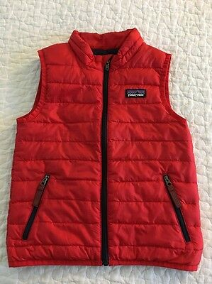 EEUC $79 PATAGONIA Boys 3 3T Down Sweater Vest in Classic Red
