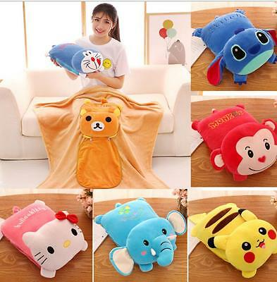 Pillow for children Amphibious vehicle air conditioning flannel blanket pillow