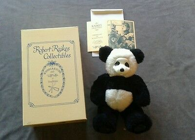 "Raikes 13"" PANDA bear - PING PONG - NIB with COA and original box - 0039/1500"