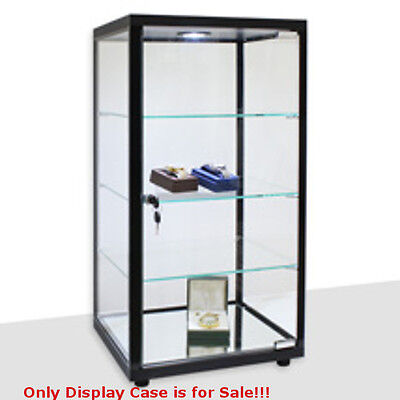 Retails Black Lighted Square Countertop Glass Display Case 14 in. W x 12 in. D