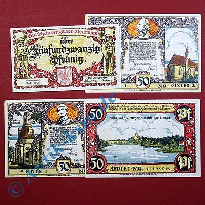 4 x Notgeld Neuruppin , Serie 1 , german emergency money , M/G 959.1 ,  kfr./unc
