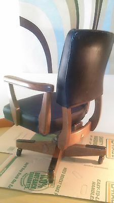 Industrial Study Desk Swivel Executive Leather B.l.marble Vintage Office Chair