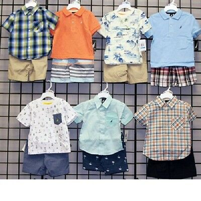 Nautica Boys sizes 12M-4T assorted short sets 24pcs [N130D37]