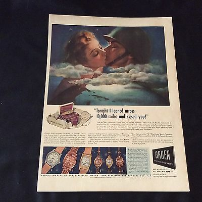 1942 Gruen Precision Watches 6 Different Models Are Pictured Vtg Art Print Ad