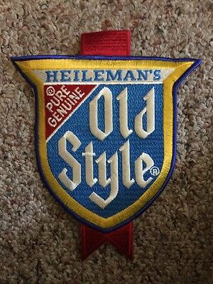 Heileman's OLD Style beer embroidered sew on patch vintage advertising uniform