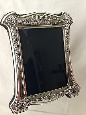 Beautiful Solid Sterling  Silver Picture Frame Full Hallmark 18cm x 14cm