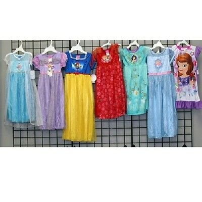 Girls 4-10 licensed short sleeve gowns 48pcs. [G410LICGWN]