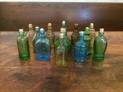 13 Vintage Replica Mini Glass Bottles - Some Wheaton NJ - Bitters, Inc, Etc.!!!!