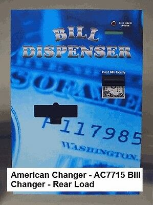American Changer - AC7715 Bill Changer - Rear Load (USED, Excellent Condition)