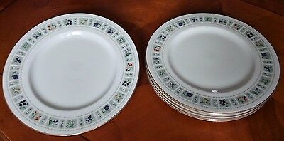 Set of Royal Doulton Tapestry Pattern Dinner Plates 27cm - Tracked Delivery