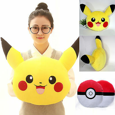 Pokemon Pikachu Pokeball Pillow Cushion Plush Stuffed Soft Toy Dolls Xmas Gift
