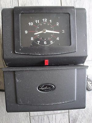 Lathem Time 4001 Automatic Model Heavy-Duty Time Recorder Clock (WITH 2 KEYS)