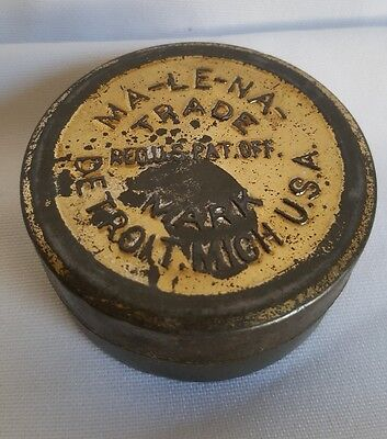 Antique MA-LE-NA Tin Ointment Can Made In USA