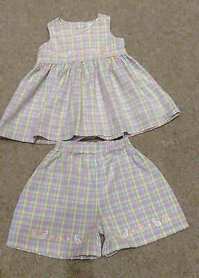 Next Checked Top And Shorts Set 9-12 Months