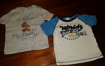 Baby Boys Size 3-6 Months short sleeved t shirts (A37)