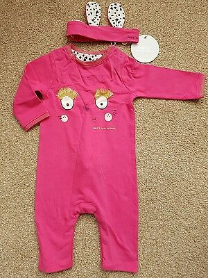 Cute Julien Macdonald baby girls outfit with headband BNWT (0-3 months)