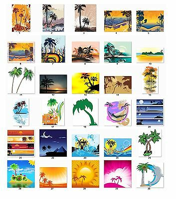 Personalized Return Address labels Palm Trees Beaches Buy 3 get 1 free {pb1}
