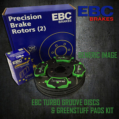 NEW EBC 300mm FRONT TURBO GROOVE GD DISCS AND GREENSTUFF PADS KIT KIT6949