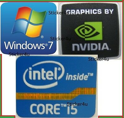 3 x Intel inside Core i5 + Nvidia + FREE WINDOWS computer 7 sticker PC Genuine