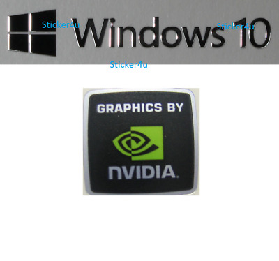 New NVIDIA FREE WINDOWS SILVER Computer sticker PC 10 Genuine 7 Desktop Laptop
