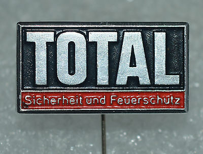 TOTAL Oil old vintage stick pin badge Rare
