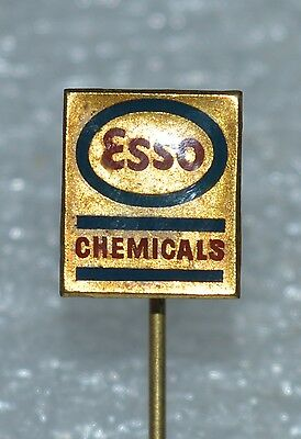 ESSO Oil Chemicals old vintage stick pin badge Rare