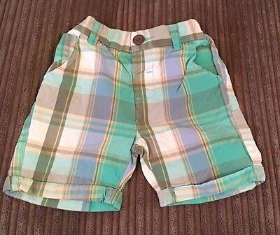 NEXT summer checked chino shorts * 18-24 months * Good condition