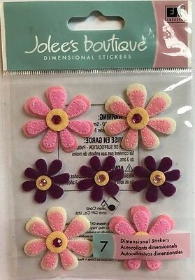 Jolee/'s Boutique Dimensional Stickers Rolled Felt Flowers