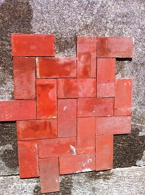 """290 Reclaimed Vintage Victorian Quarry Tiles  6"""" x 3"""" (approx 3.5 m2)"""