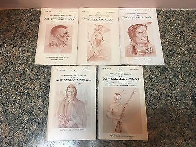Biographies and Legends of the New England Indians Volumes 1-5