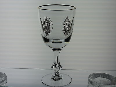 Tiffin Franciscan PALAIS VERSAILLES Water Goblet Gold Encrusted Excellent!