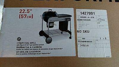 Weber 1427001 Performer charcoal grill in green
