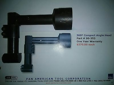 Aircraft tools Pan American /Nova threaded 360 degree drill head.