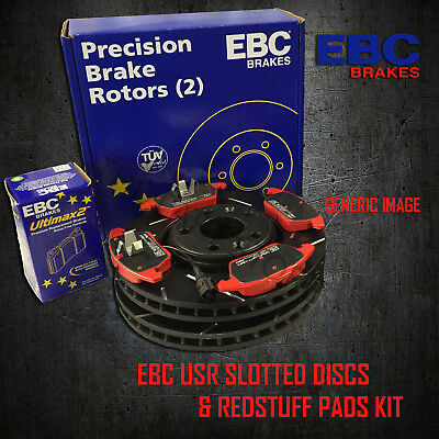 NEW EBC 288mm FRONT USR SLOTTED BRAKE DISCS AND REDSTUFF PADS KIT KIT10650