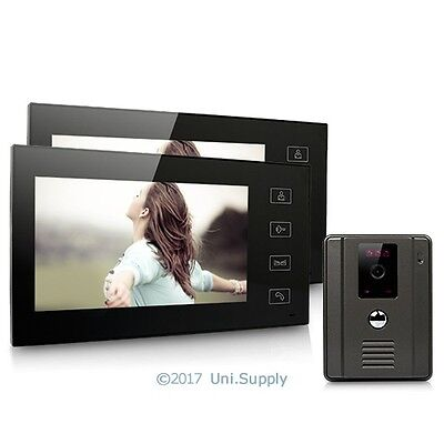 """7"""" Wired Video Door Phone Doorbell Home Security Intercom System 2-In 1-Out"""